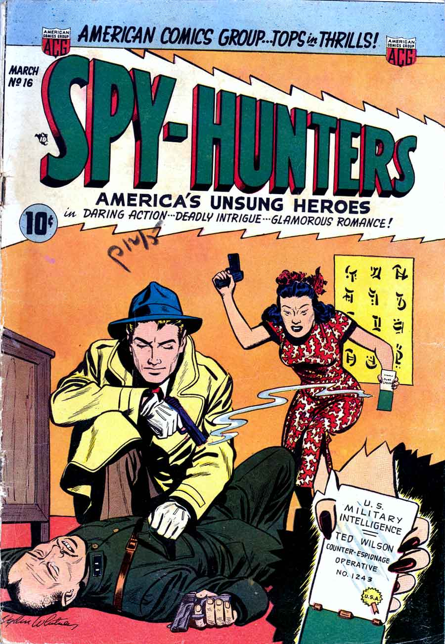 Spy-Hunters #16 - Al Williamson art - Pencil Ink