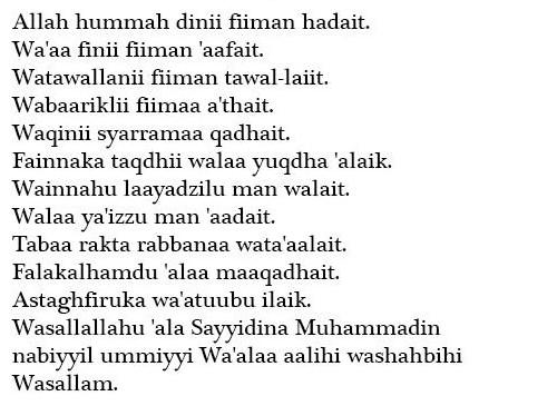Doa Qunut Subuh Untuk Imam Hijabikacom