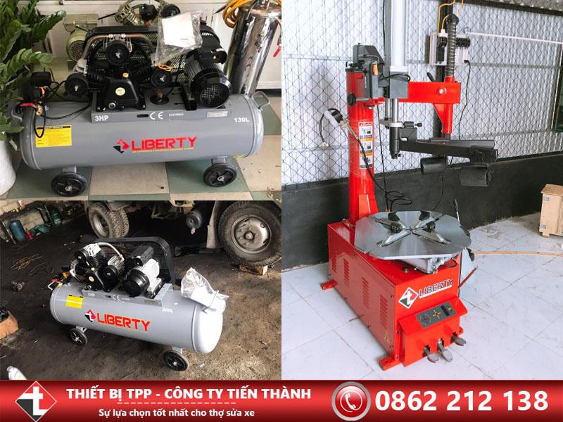 Máy nén khí, máy bơm hơi, máy ra vào lốp, máy tháo vỏ, máy hơi