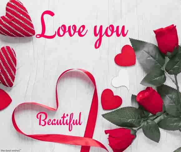 love you beautiful image