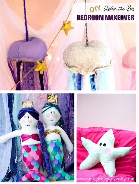 Salt Dough Sea Star Garland…and Lu's Under the Sea Bedroom Makeover!