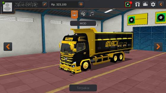 Livery Hino 500 Black Gold Dumptruck