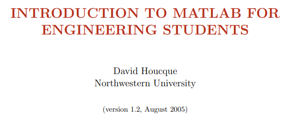 Matlab introduction كتاب مهم جدا