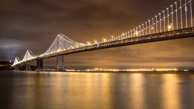 Plano de Fundo HD Paisagem Noturna com Ponte