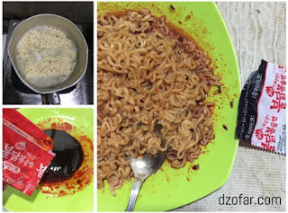 cara memasak mie samyang