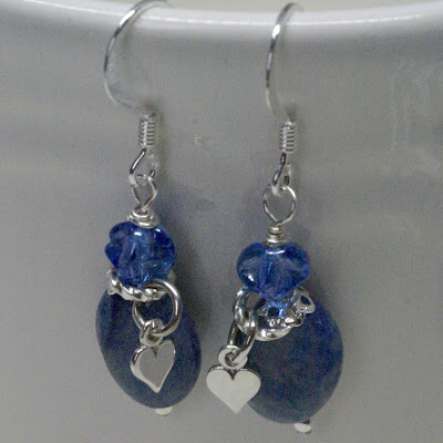 Romantic Snorkel Blue Earrings