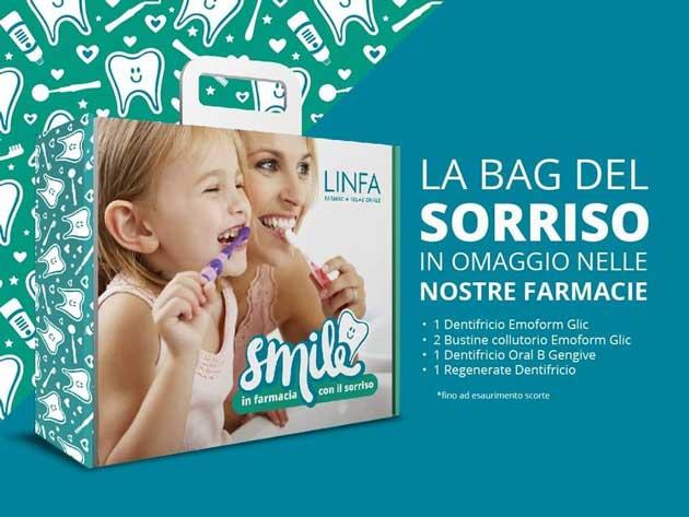 Farmacia Linfa: la bag del sorriso gratis da ritirare