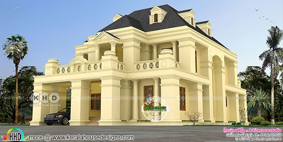 5 BHK colonial home architecture