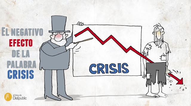 El efecto negativo de la palabra crisis