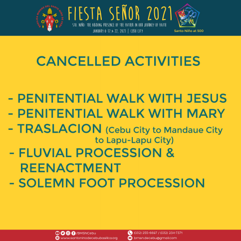 Sinulog 2021 Cancelled Activities due to COVID 19