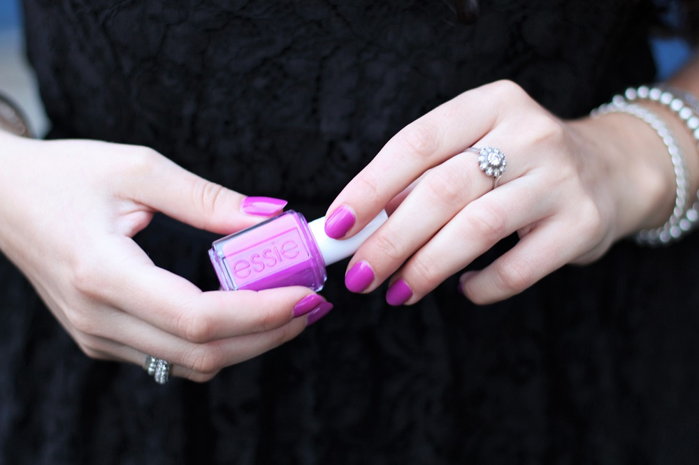 Essie DJ Play That Song purple nail varnish - UK beauty blog