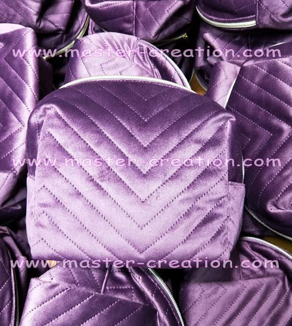 glossy velvet bag