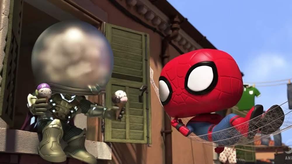 Spider-Man Far From Home Funko Trailer : スパイダーマンとミステリオの迷コンビが、水の都のヴェネチアで、イタリアン・ジェラートの危機を救う Funko の愉快なアクション・ショート・アニメ ! !