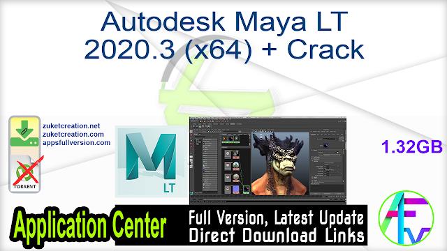 Autodesk Maya LT 2020.3 (x64) + Crack