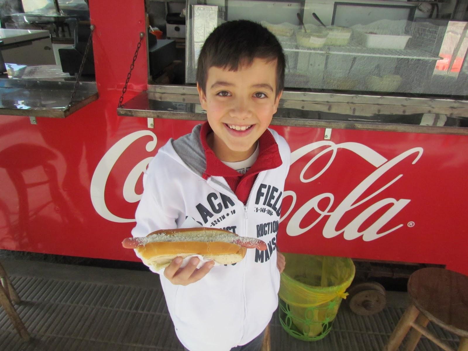 Comer panchos no Uruguay