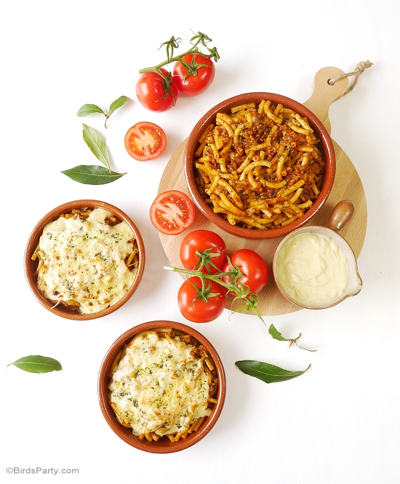 Dinner Party Recipe: Ragu alla Bolognese Pasta Bowls - BirdsParty.com