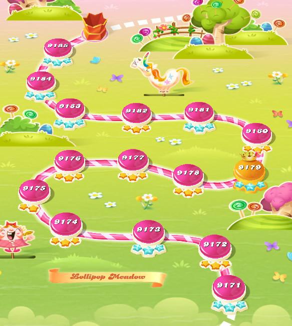 Candy Crush Saga level 9171-9185