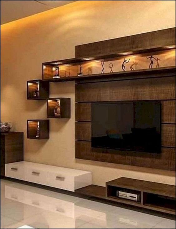 Modern Tv Wall Units Tv Wall Unit Tv: +55 Modern TV Wall Units For Living Rooms