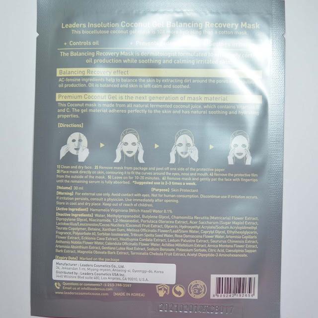 balancing sheet mask