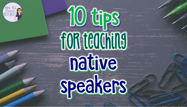 Tips for teaching native speakers in foreign language class