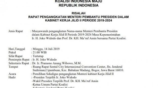 Beredar Lagi Daftar Menteri Kabinet Jokowi-Ma'ruf, Ada Nama-nama Baru Muncul, Menurut TKN...