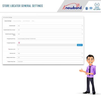 General Settings: Opencart store locator extension