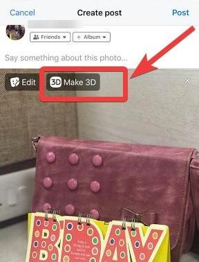 إنشاء صور 3D فيسبوك iphone