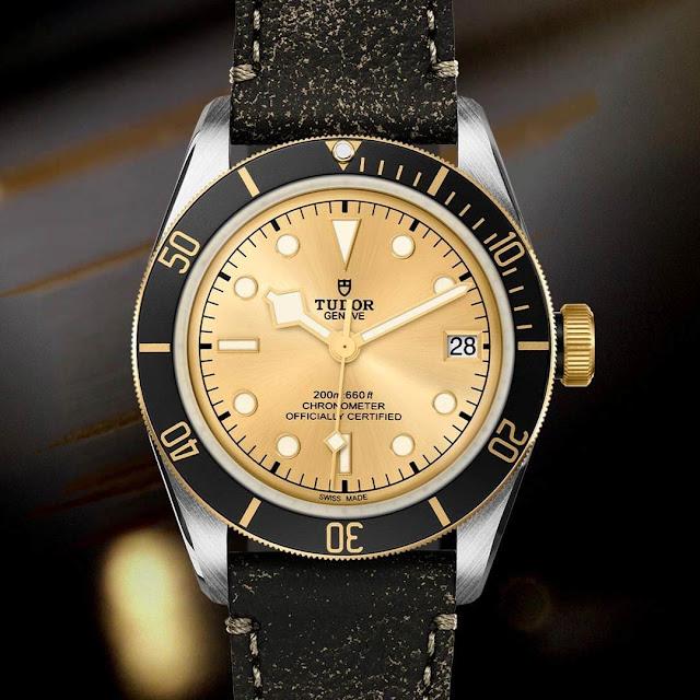 Tudor Heritage Black Bay Steel & Gold Champagne Dial