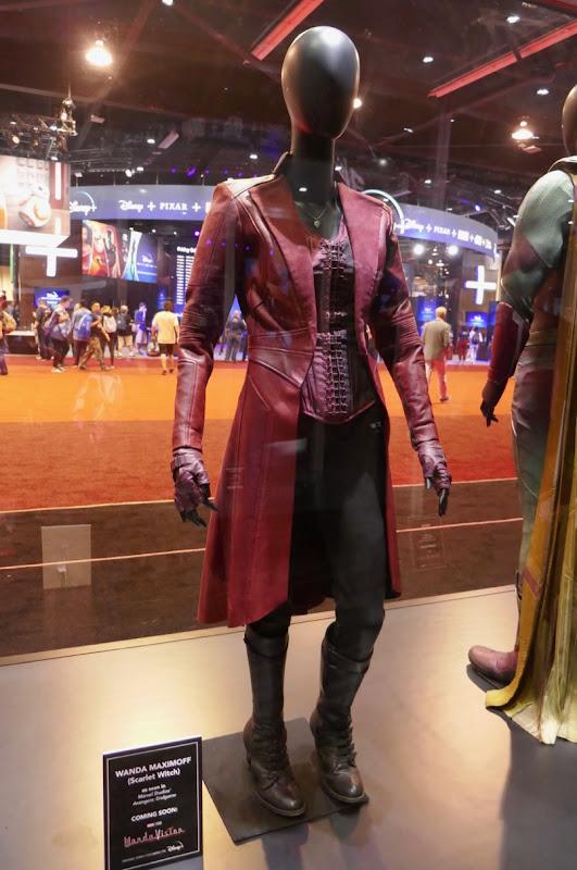 Elizabeth Olsen Avengers Scarlet Witch film costume