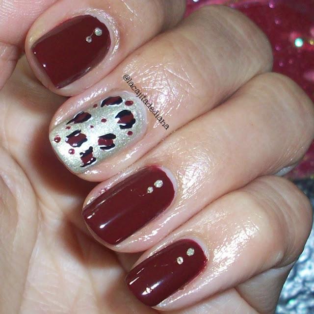 animalprint-darkbrownnails