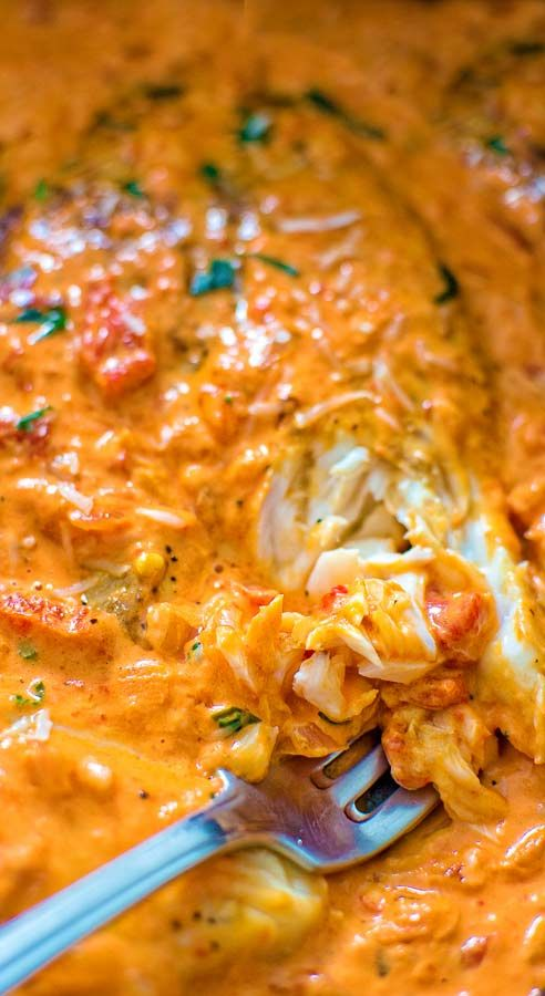 Tilapia in Roasted Pepper Sauce