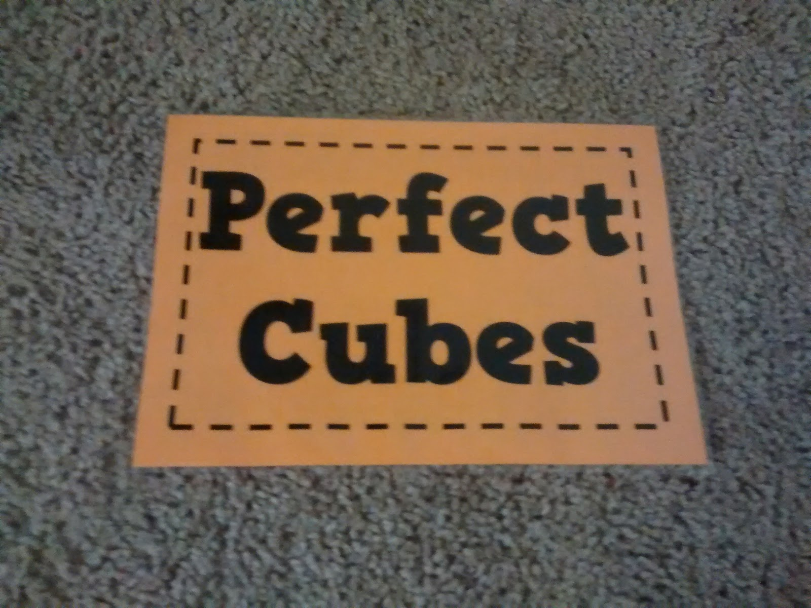 Math Love Posters Of Perfect Squares And Perfect Cubes