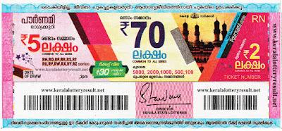 Pournami lotteryresult   keralalottery.org