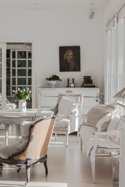 Breathtaking beautiful Swedish style interior design with calm, peaceful decor - found on Hello Lovely Studio