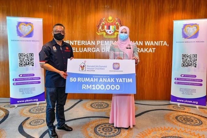 Sumbangan RM100,000 daripada RMHC Malaysia Ceriakan 50 Rumah Anak Yatim Seluruh Malaysia