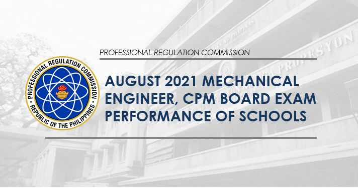 August 2021 Mechanical Engineer ME board exam result