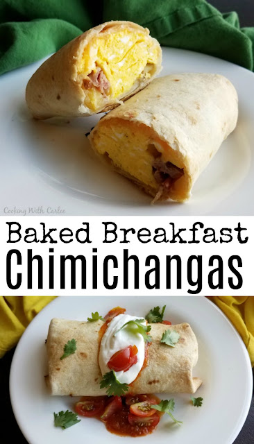 These fun baked chimichangas have a crisp golden exterior and are stuffed with eggs, cheese, potato and ham. They are ready in about 30 minutes and will have them all satisfied!