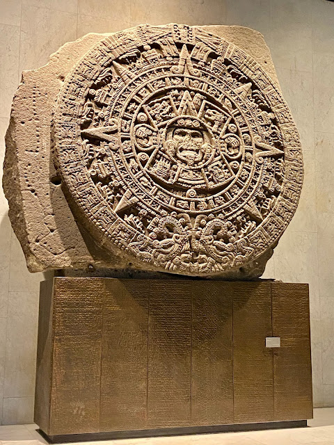 The Sun Stone, Tenochtitlan & Mexica exhibit, National Museum of Anthropology, Mexico City, Mexico