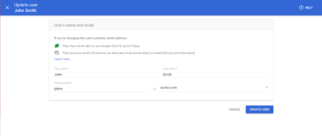 New streamlined experience for managing users and domains in the Admin console 5