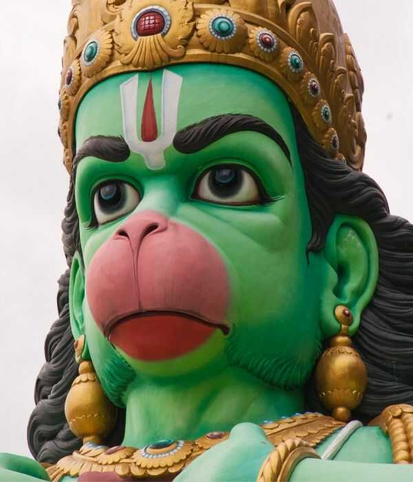 Green Colour Hanuman Ji