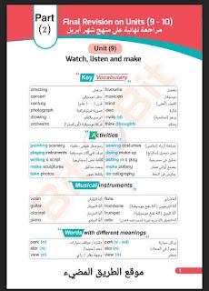 مراجعة اللغة الإنجليزية النهائية للصف الثاني الاعدادي الترم الثاني أبريل 2021، كتاب بيت باي بيت ثانية اعدادي