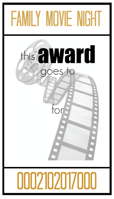 blank ticket for awards, movie night, printable, fill in