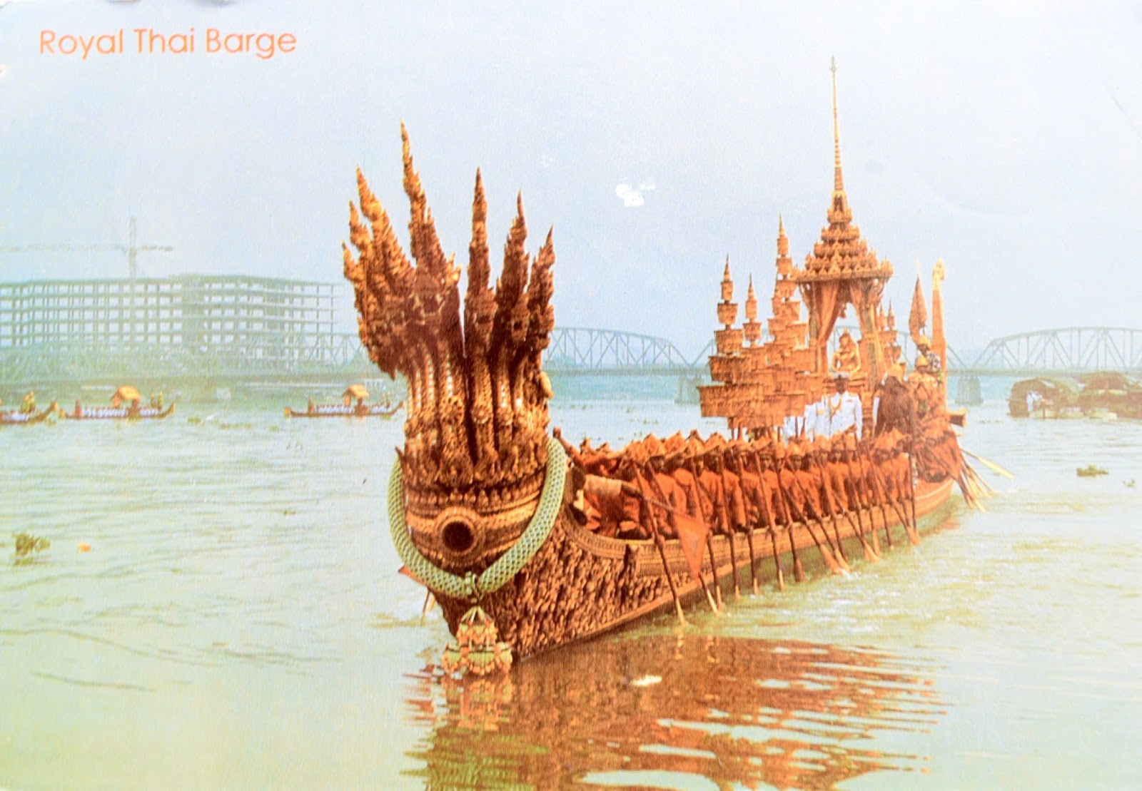 The Nakaraj Barge in a Procession - Bangkok, Thailand