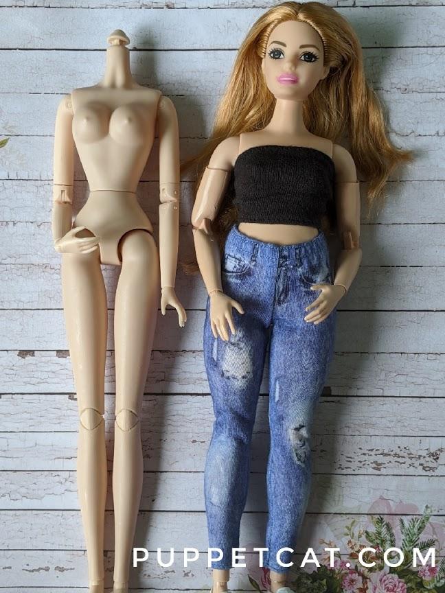 сравнение с пухлой Барби