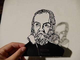 ガリレオ・ガリレイの切り絵