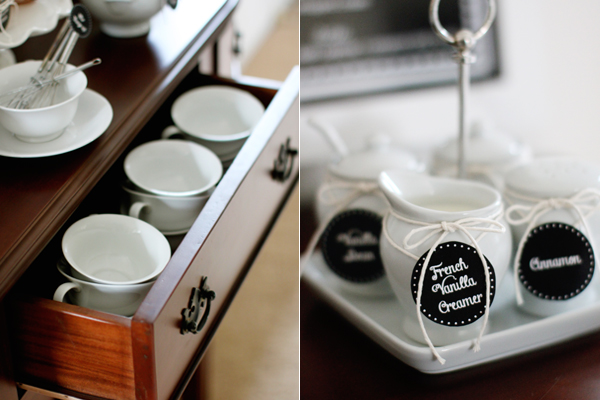 Turn a buffet table into a hot cocoa bar