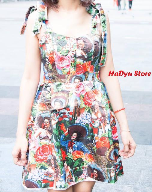 Đầm UrGirl họa tiết lạ và đầy cá tính | HaDyu Store