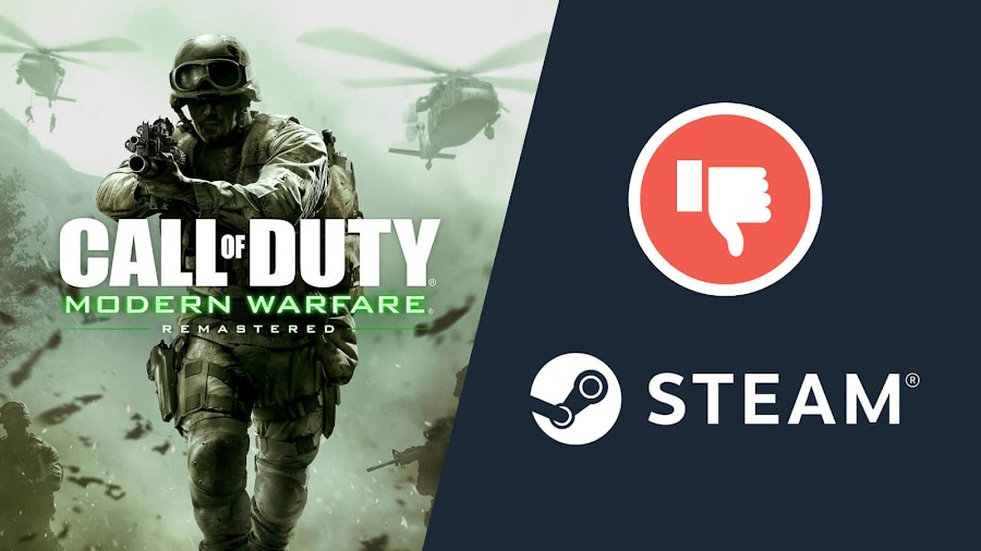 call of duty modern warfare remastered negative review steam