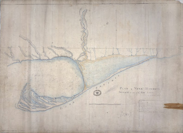 Plan of York Harbour Surveyed by order of Lt Govr Simcoe by Alexander Aitken, 1793