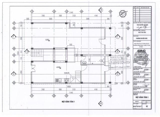 Thiết kế tầng 1 chung cư mini Minh Đại Lộc 2B